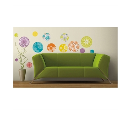 Necessary To Have Decor Items For College - Intricate Decor Circle Dots - Peel N Stick - Looks Great On Dorm Walls