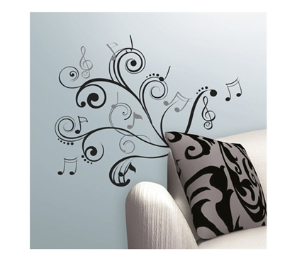 Unique Dorm Item - Rhythm of Music Notes - Peel N Stick - Cool College Decoration