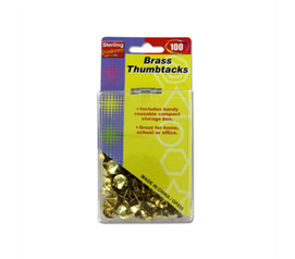 100 Brass Thumbtacks