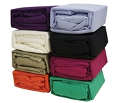 Match To Your Dorm Comforter - Jersey Knit Twin XL College Bedding Sheets (Available in 8 Colors)