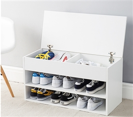 Yak About It The Shoe Rack Bench - White