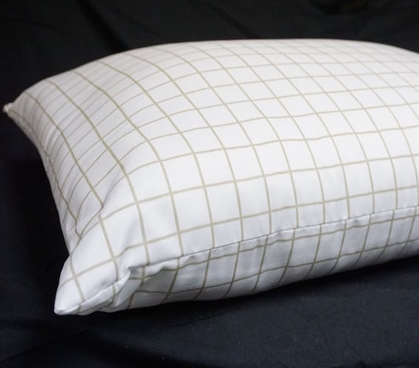 Basic Essential Microfiber Pillow Dorm Bedding Dorm Necessities for College Supplies