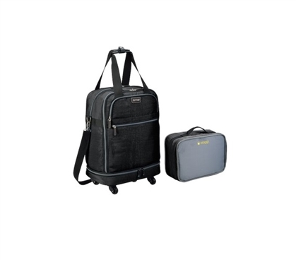 Foldable Carry On College Luggage - Black Dorm Essentials College Supplies