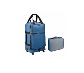 Foldable College Luggage - Winter Blue Dorm Essentials