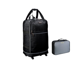 Foldable College Luggage - Black College Supplies Must Have Dorm Items