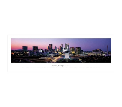 Atlanta, Georgia - Twilight Panorama College Wall Decor Dorm Essentials