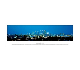 Atlanta, Georgia - Evening Panorama College Wall Decor