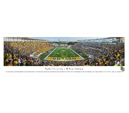 Baylor University - McLane Stadium Panorama Dorm Wall Art Dorm Room Decor