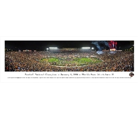 BCS - 2013 Football National Champions - January 6, 2014 Panorama Dorm Wall Art Dorm Wall Decor
