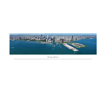 Chicago, Illinois - Aerial Panorama