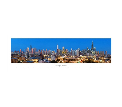 Chicago, Illinois - Twilight Panorama