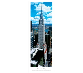 Chrysler Building - Panorama College Wall Decor Dorm Wall Art