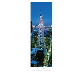 Chrysler Building - Twilight Panorama Dorm Essentials Dorm Room Decorations