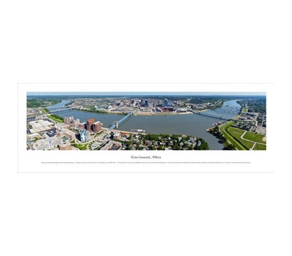Cincinnati, Ohio - Aerial Panorama Dorm Room Decorations Dorm Room Decor