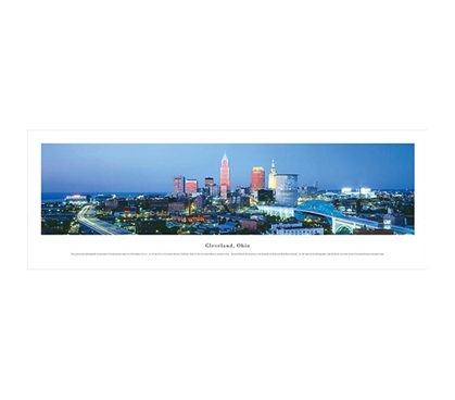 Cleveland, Ohio - Panorama College Wall Decor