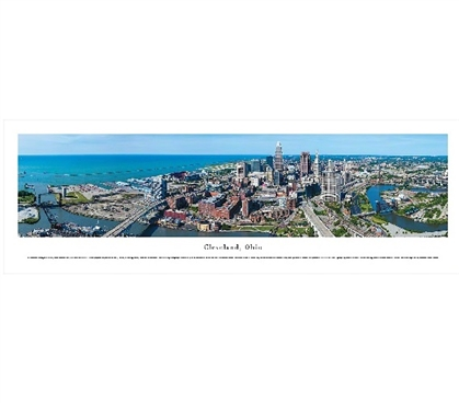 Cleveland, Ohio Skyline Panorama Dorm Essentials Dorm Room Decor