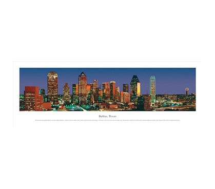Dallas, Texas - Vibrant Panorama Dorm Room Decorations