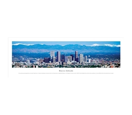 Denver, Colorado - Skyline Panorama Must Have Dorm Items Cool Dorm Room Ideas