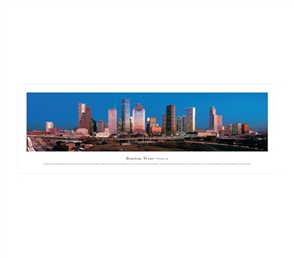 Houston, Texas - Twilight Panorama