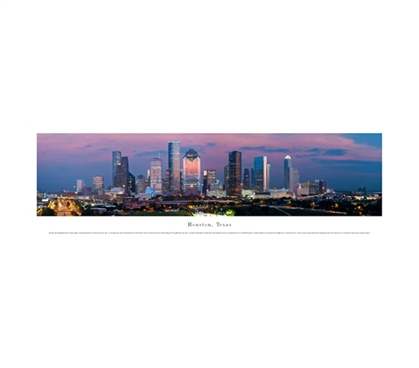 Houston, Texas - Lights Panorama