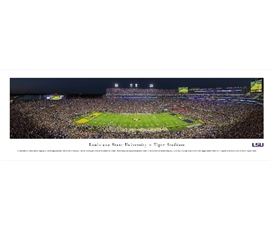 Louisiana State University - Tiger Stadium Panorama Dorm Wall Art Dorm Essentials