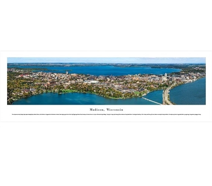 Madison - Wisconsin - Skyline Aerial Panorama