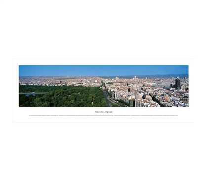 Madrid, Spain - Skyline Panorama