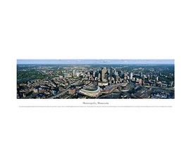 Minneapolis, Minnesota - Aerial Panorama