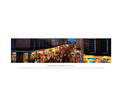 New Orleans, Louisiana - Bourbon Street Panorama