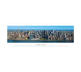 New York City, New York - Deep Blue Panorama