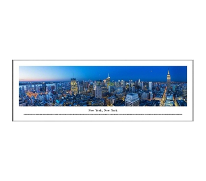 New York City - New York - Twilight Sky Panorama
