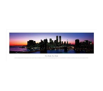 New York City, New York - Brooklyn Bridge Panorama