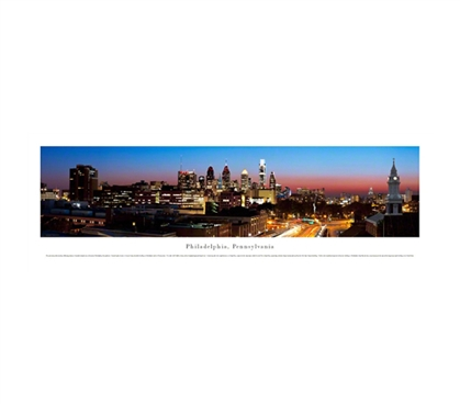 Philadelphia, Pennsylvania - Twilight Panorama