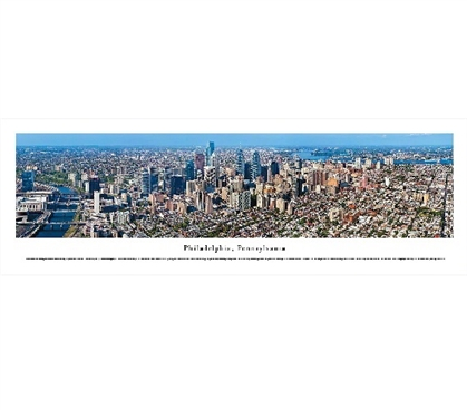 Dorm Room Decor College Wall Decor Philadelphia, Pennsylvania Skyline Panorama Dorm Necessities