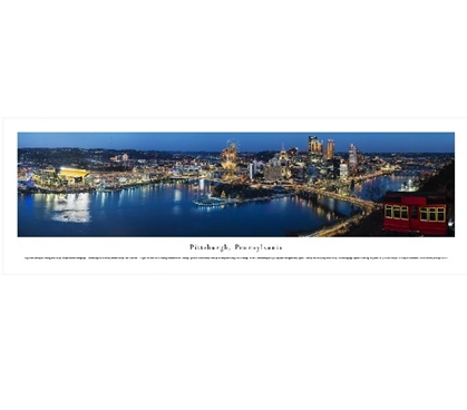 Best Dorm Stuff - Pittsburgh, Pennsylvania Panorama - Shop For College
