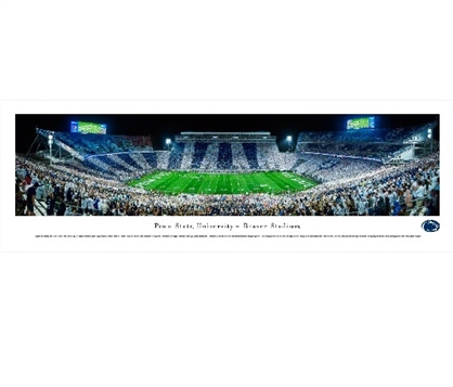 Penn State Nittany Lions - Beaver Stadium Panorama Dorm Wall Art Dorm Room Decor