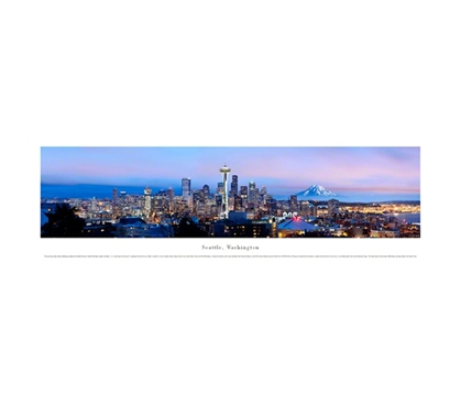 Seattle, Washington - Skyline Panorama