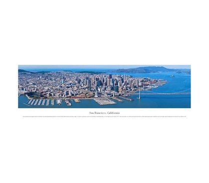 San Francisco, California - Deep Blue Panorama