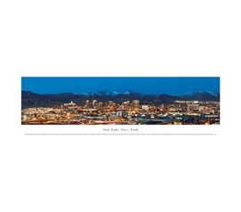 Salt Lake City, Utah - Twilight Panorama
