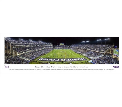 Texas Christian University - Amon G. Carter Stadium Panorama - Great Dorm Wall Decor