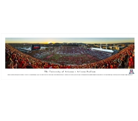 Dorm Wall Art The University of Arizona - Arizona Stadium Panorama Dorm Room Decor