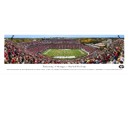 University of Georgia Sanford Stadium Saturday in Athens Panorama - College Decor
