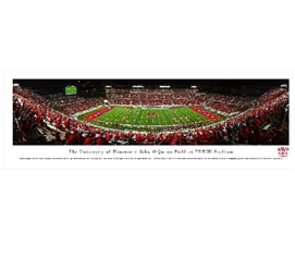 Dorm Wall Art The University of Houston - John O'Quinn Field at TDECU Stadium Panorama Dorm Room Decorations