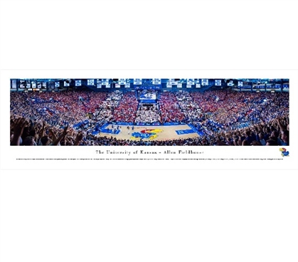 Dorm Wall Art University of Kansas - Allen Fieldhouse Panorama Dorm Essentials