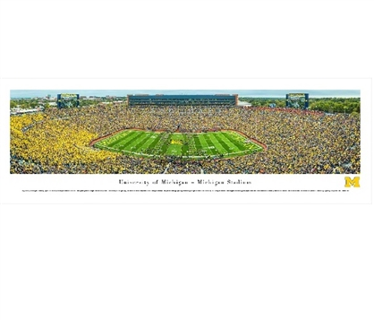 Michigan Wolverines Big House - Michigan Stadium Panorama