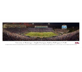 University of Mississippi - Vaught-Hemingway Stadium Panorama Dorm Room Decor College Wall Decor