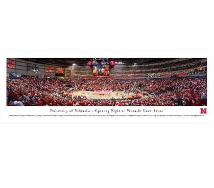 University of Nebraska - Opening Night at Pinnacle Bank Arena Panorama - Wall Decor for College