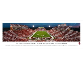 Dorm Essentials University of Oklahoma - Gaylord Family-Oklahoma Memorial Stadium Panorama Dorm Room Decor
