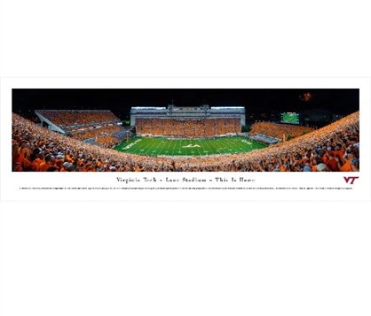 Dorm Room Decor Virginia Tech Hokies - Lane Stadium Panorama Dorm Wall Art