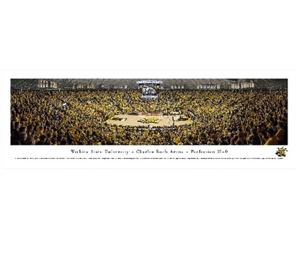 College Essentials - Witchita State University - Charles Koch Arena Panorama - Decor For Dorms